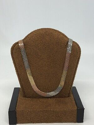 Gorgeous 18KT Yellow, White, Rose Gold 750 Mesh Necklace Chain