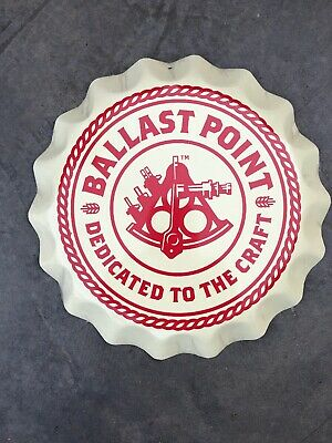 New Ballast Point Brewing ~Tin Tacker ~Metal Beer Sign~ Beer Bottle Cap Sign