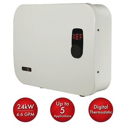 Tankless Electric Water Heater Whole House Instant Hot On Demand Eco 24 kW NEW