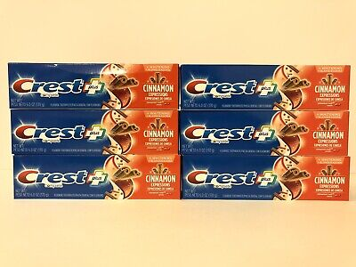Lot of 6 - Crest Complete Cinnamon Rush Toothpaste 6.0 oz each