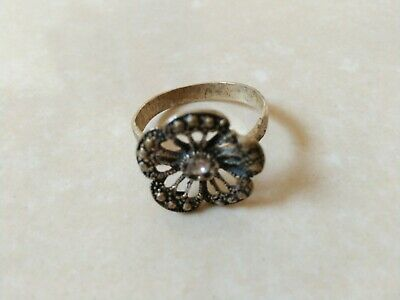 Ancient Roman Ring Metal Color Silver Authentic Amazing Rare Type