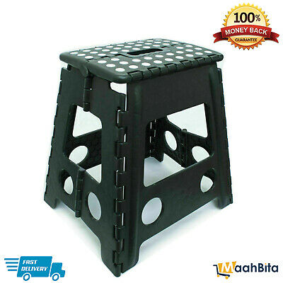 Home Kitchen Heavy Duty Plastic Multi-Purpose Folding Step Stool Seat Storage