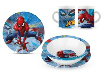 SET PAPPA in CERAMICA - Piatti e Tazza MARVEL - SPIDERMAN a