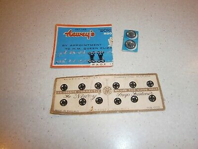 Vintage Newey's Snap Fasteners On Original Card - Made In England & Extras
