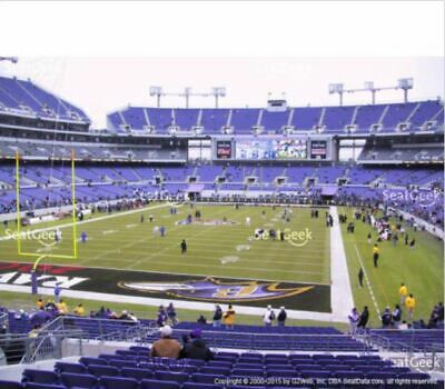 Two Baltimore Ravens Vs Pittsburgh Steelers Lower  Aisle Covered Seats 12/29/19