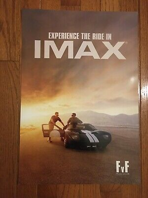 "Ford vs Ferrari Movie 13""x19"" Limited Edition IMAX Posters PROMO Ford Gt"