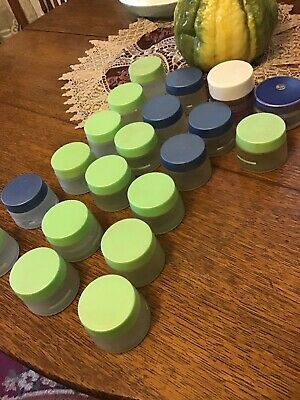 Empty Satin Glass Jars For Crafting, Skin-Care Jars, Lot Of 22