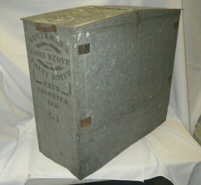 Rare Antique Stutzman's Cook Stove Fruit Drier Dryer Ligonier, Ind. No. 1