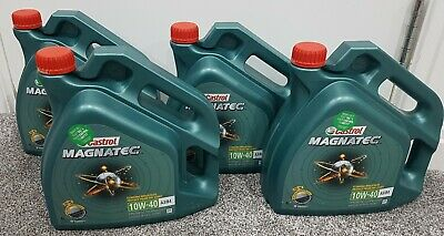 2x 4 Litres 4L Castrol Magnatec 10W40 Part Synthetic Car Engine Oil -COLLECTION!