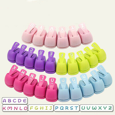 Alphabet Hole Punches Paper Cutter DIY Kids Handmade Scrapbooking Craft Tool