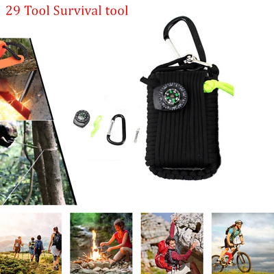 29 in 1 Outdoor Camping Survival Kit Fishing Tactical Bag EDC Emergency Gear US