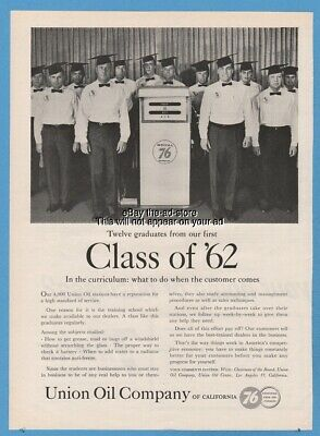 1962 Union 76 Oil Company of California Class of 62 Training School Gas Pump Ad
