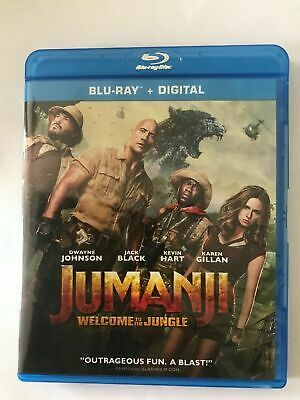 Jumanji: Welcome to the Jungle (Blu-ray/DVD, 2018,Digital Copy)NEW Authentic US