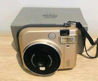 Stardust Gold Color FujiFilm Instax Mini 70 Polaroid Camera In Box