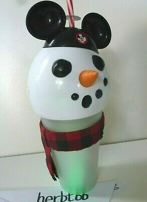 2019 Disney Parks Holiday Light Up Snowman Sipper Cup Mickey Disneyland