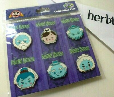 Disney Parks TSUM TSUM Pin Set Haunted Mansion 50th Booster Anniversary HM50