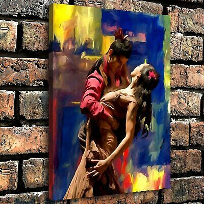 """12""""x16"""" Abstract Dance Painting HD Canvas print Home Decor room Wall art Picture"""