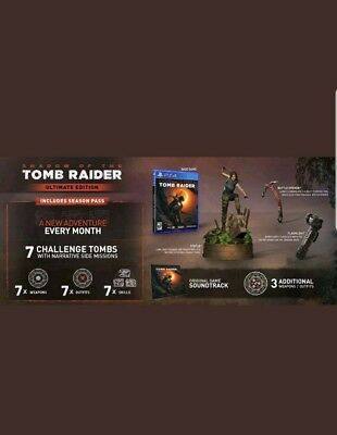 Shadow of The Tomb Raider Ultimate Edition PS4 Tomb Statue BRAND NEW SEALED