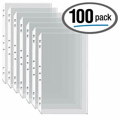 """100 Pack Legal Size Clear Heavyweight Poly Sheet Protector 8.5""""x14"""" Fast Shippin"""