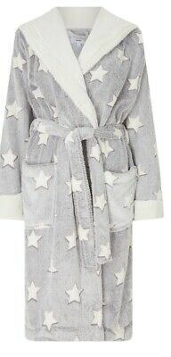 John Lewis ladies Dressing Gown Grey/Ivory Size MediumStar New with Tags RRP £39