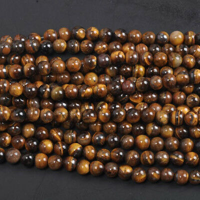 Tiger's Eye Natural Gemstone Round Spacer Beads 4mm 6mm 8mm10mm DIY Jewelry