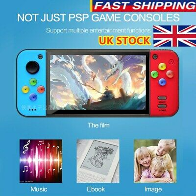 UK Portable Q7 PSP 8G 128 Bit Handheld Game Console Retro 10000+Games Player MP4