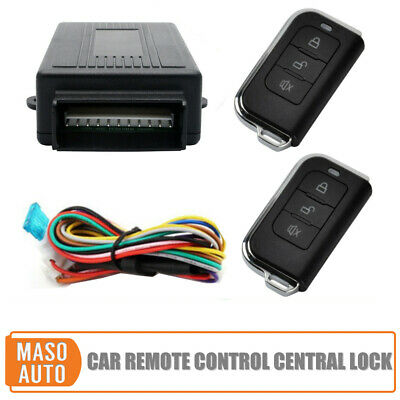 Universal Car Keyless Entry Systems Remote Control Central Kit Door Lock Kit