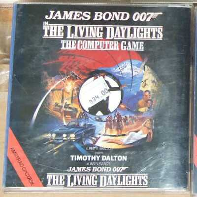 James Bond 007 The Living Daylights game for the Amstrad CPC on 3in disk