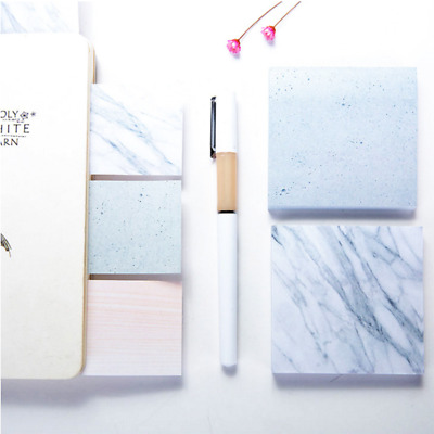 Office Supplies Colorful Sticky Notes Memo Pad Paster Stickers Marble Veins