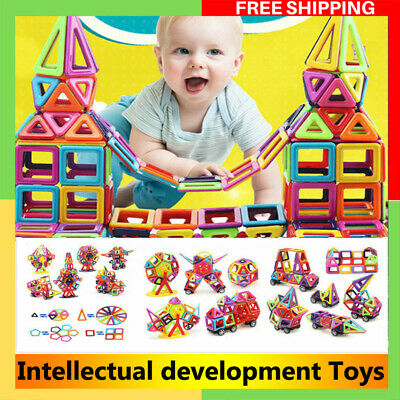 95/64pcs Magnetic Toy Building Blocks Set 3D DIY Tiles Magic Toy Xmas Gift Kids