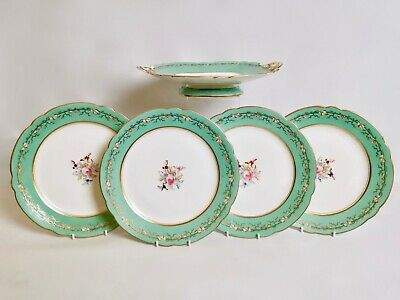 Samuel Alcock part dessert service for 4, ca 1850