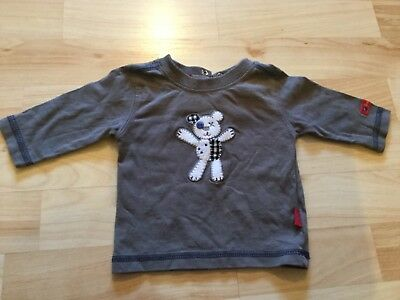 Baby Boy's Pumpkin Patch, grey, long-sleeve top (Newborn), pre-owned.