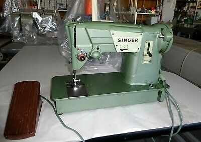 Vintage 60,s Singer Sewing Machine Model 327K with Case excellent condition