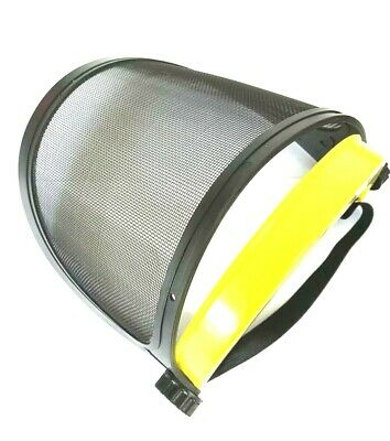 Safety Mesh Eye Face Mask Helmet Protector Trimming Gardening Shield with Strap