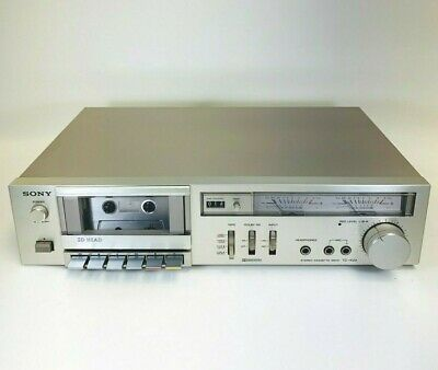 Vintage Sony TC-K22 Silver Faced Stereo Cassette Deck Working