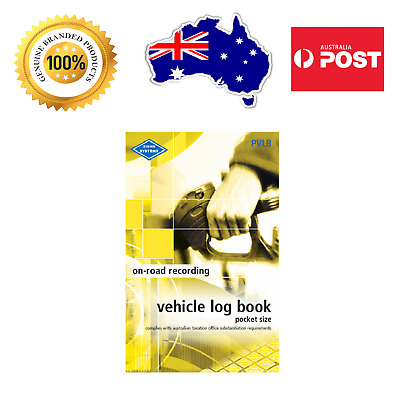 ZIONS◉PVLB Vehicle Log◉Pocket Size Bk◉64 PAGES◉CAR TRUCK◉COMPACT◉ATO Compliant◉