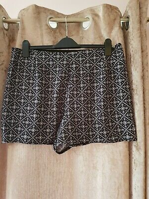 Bnwot George  Size 18 High Waisted Shorts Black And White