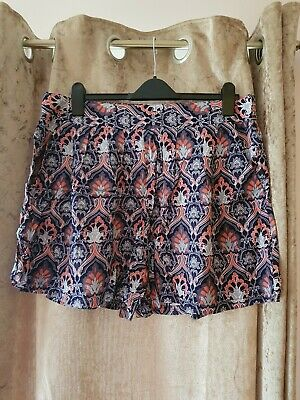 Bnwot Size 18 Peacocks High Waisted Woven Shorts