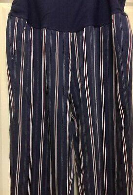Target Maternity Collection: Navy pants with red & white stripe Size 16 (New)