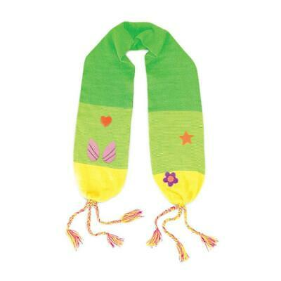 100% Acrylic Fairy Knit Scarf Soft Material, Green, One Size for Girls