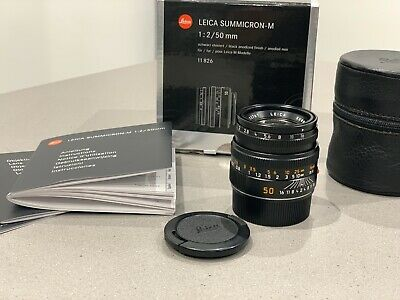 Leica M Summicron 50mm f2 V5 Version 5 Boxed, Mint, 6 Bit Coded, Looks New