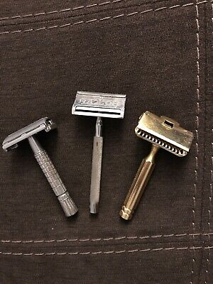 Vintage Safety Razor Lot Of Three