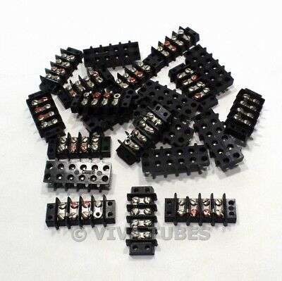 Vintage Lot of 21 Jones & Cinch Black 8-Position Terminal Strips for Speakers