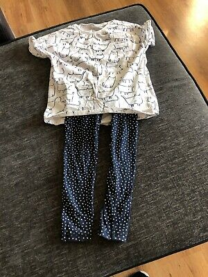 Girls Next Size 6  Pjamas Set