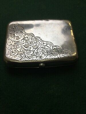 Solid Silver Cigarette Case 98 Grams Sterling 1911 William Henry Sparrow