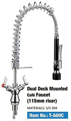 Full Stainless Steel Commercial Kitchen Deck-mounted Pre Rinse Unit Faucet NSF