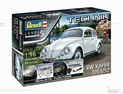 1/16th scale 1951/52 VW Kafer Type 1 Beetle Technik model kit by Revell