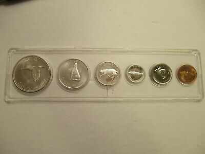 1967 Royal Canadian Mint Proof-Like 6 coin set, 80% silver, acrylic holder