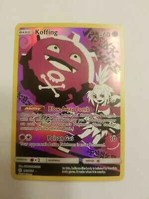 Pokemon Card Koffing 243/236 Full Art Roxie Cosmic Eclipse NM/M