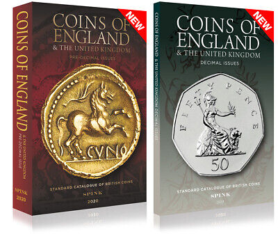 SPINK COINS OF ENGLAND 2020 (2 Volumes Pre & Post Decimal **NEW - NOW IN STOCK**